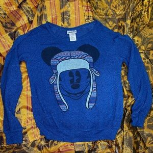 DISNEY'S MICKEY MOUSE Blue Knit Long Sleeve Small